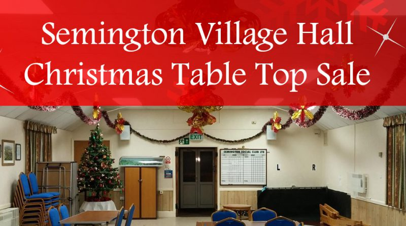Semington Village Hall Table Top Sale